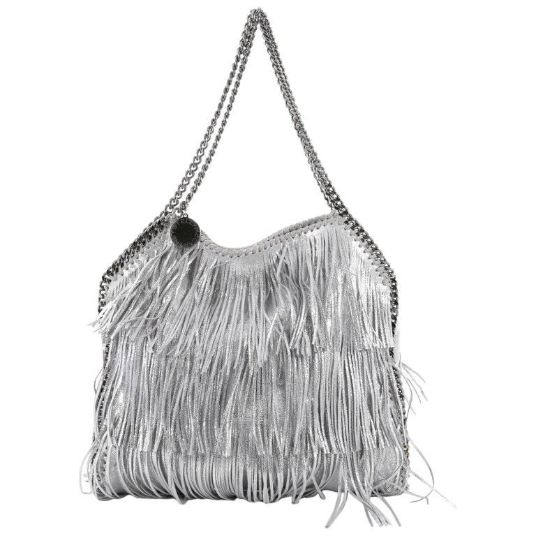 Stella McCartney Falabella Fringe Tote Faux Leather Small For Sale. This  authentic ... 666682f9468fe