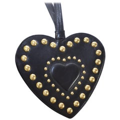 Moschino Redwall Vintage Heart Stud Handbag