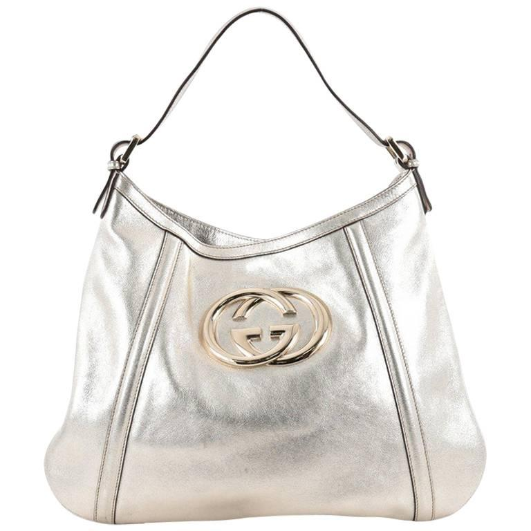dc4fd8c4be9 Gucci Britt Hobo Leather Medium at 1stdibs
