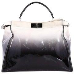 Fendi Peekaboo Handbag Ombre Patent Large