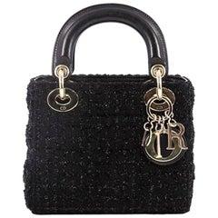 Christian Dior Lady Dior Handbag Cannage Quilt Tweed Mini