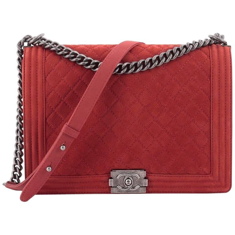 82c5a58a34bf5a Chanel Boy Flap Bag Quilted Matte Caviar Large at 1stdibs
