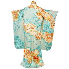 Hand Painted and Dyed Japanese Shibori Kimono