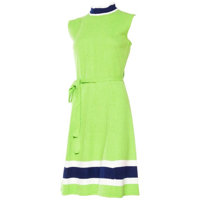 8396e5120a32 1960s Mod St John Knit Dress For Sale at 1stdibs