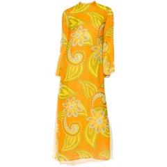 1960s Malcolm Starr Chiffon Dress