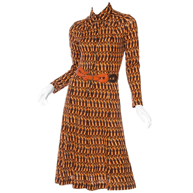 1970s giovannozzi italian wool jersey dress for the writer for Italian fashion websites