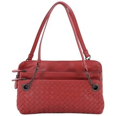 Bottega Veneta Compartment Chain Shoulder Bag Intrecciato Nappa Medium