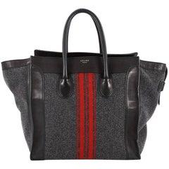 Celine Luggage Handbag Racer Felt Mini