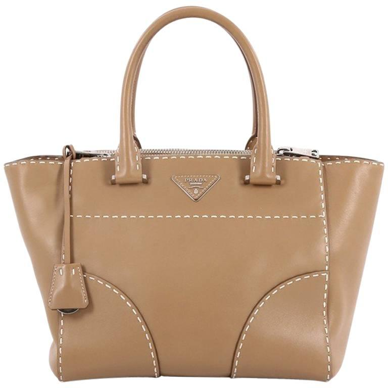 b55048bbcd95 Prada Twin Pocket Tote Stitched City Calfskin Medium at 1stdibs