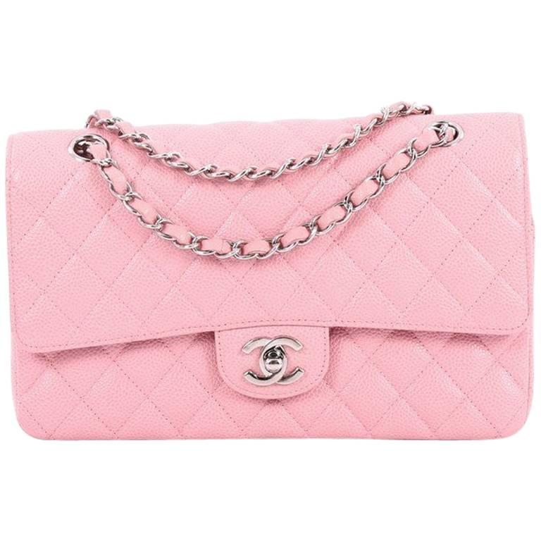 92aae72431 Chanel Classic Double Flap Bag Quilted Caviar Medium at 1stdibs