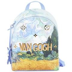 Louis Vuitton Palm Springs Backpack Limited Edition Jeff Koons Van Gogh Print Ca