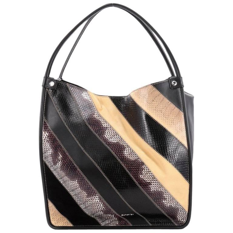 Proenza Schouler Tassel Tote Suede Leather and Snakeskin Medium