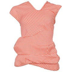 Museum Quality Comme des Garcons Lumps & Bumps SS 1997 Red Gingham Top