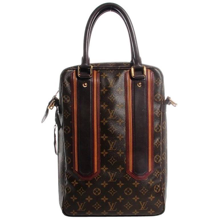 aba5226dc0f2 Louis Vuitton Limited Edition Mono Men s Top Handle Travel Tote Shoulder Bag  For Sale
