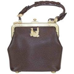 Leather Textured Satchel