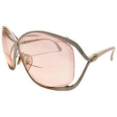 "80'S Christian Dior MOD ""CD"" Logo Mod Butterfly Sunglasses"