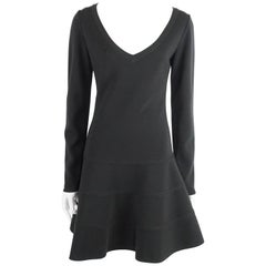 Alaia Black Knit Long Sleeve Dress - L