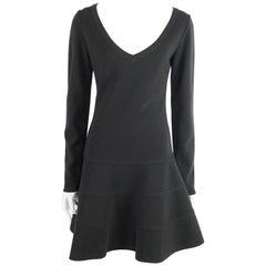 Alaia Black Knit Long Sleeve Dress - L