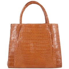 Nancy Gonzalez Convertible Tote Pleated Crocodile Large