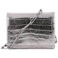 Nancy Gonzalez Chain Crossbody Bag Crocodile Small