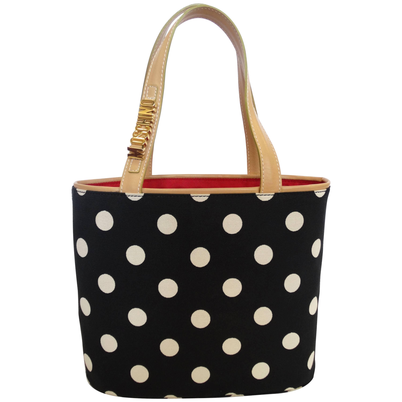 1999 Moschino Couture! Polkadot Shopper Bag