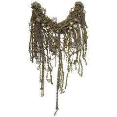 Chanel gorgeous Brooche/ Necklace as a collar for a Blouse/ Shirt
