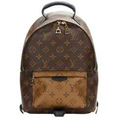 2016 Louis Vuitton Brown Monogram Reverse Coated Canvas Palm Springs Backpack PM