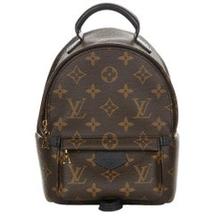 2016 Louis Vuitton Brown Monogram Coated Canvas Palm Springs Backpack PM