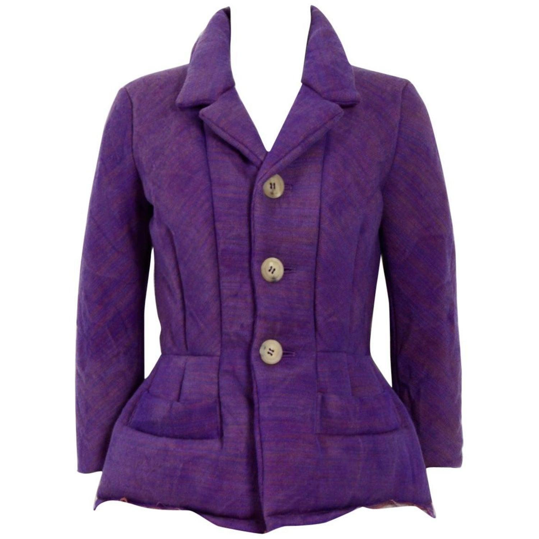 d0170a879b58 Comme Des Garcons Junya Watanabe 1990 s Purple Wool Jacket at 1stdibs