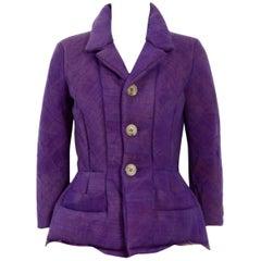 Comme Des Garcons Junya Watanabe 1990's Purple Wool Jacket