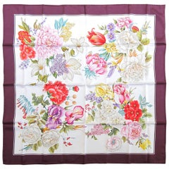 1990s Gucci Silk Floral Scarf New, Never Worn