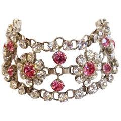 Stunning 1960s Rhinestone Choker Necklace