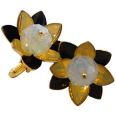 Anne Fontaine Flower Cufflinks
