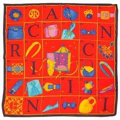 """Vintage Nina Ricci """"Calendar""""   silk scarf  featuring L'Air du Temps"""