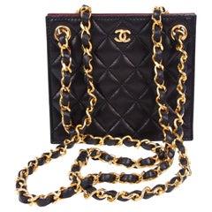 Chanel Evening Clutch Bag Vintage 1987 - black