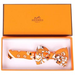 Hermes Silk Lady Bow Tie - orange