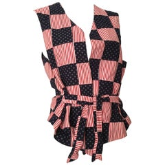 Dior Monsieur 1980s Cotton Patchwork Vest Size Ex-Large.