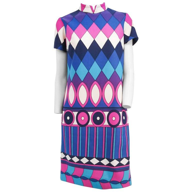 1960s Purple Pop Art Mod Mini Dress For Sale At 1stdibs