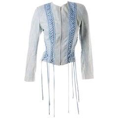 Christian Dior Lace Up Denim Jacket