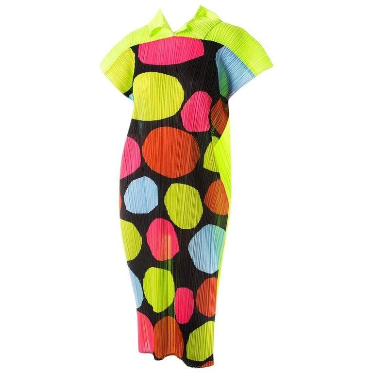 Issey Miyake Pleated Polkadot Dress 1