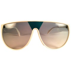 New Vintage Rodenstock White Grey Gradient Lenses 1980's Sunglasses