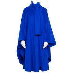 Louis Feraud 1970's Vintage Wool Cape