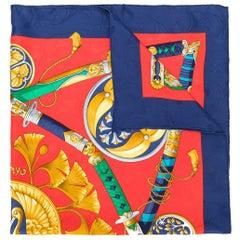 Hermes Silk Sword Print Scarf