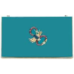 Charlotte Olympia Blue Box Scorpion Clutch
