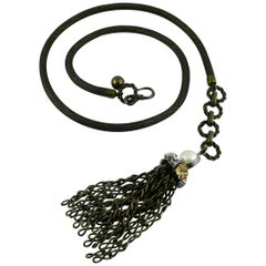 Lanvin Jewelled Tassel Belt and Necklace
