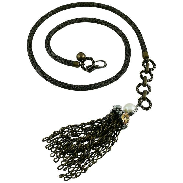 Lanvin Jewelled Tassel Belt and Necklace