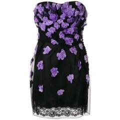 Christian Dior Strapless Flower Dress