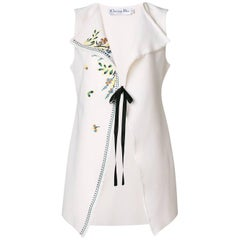 Christian Dior Embroidered Sleeveless Jacket
