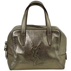Lovely Golden Leather Yves Saint Laurent handbag
