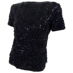 1960s Beaded Sequins Sweater